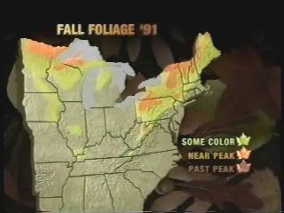Fall Foliage Report map